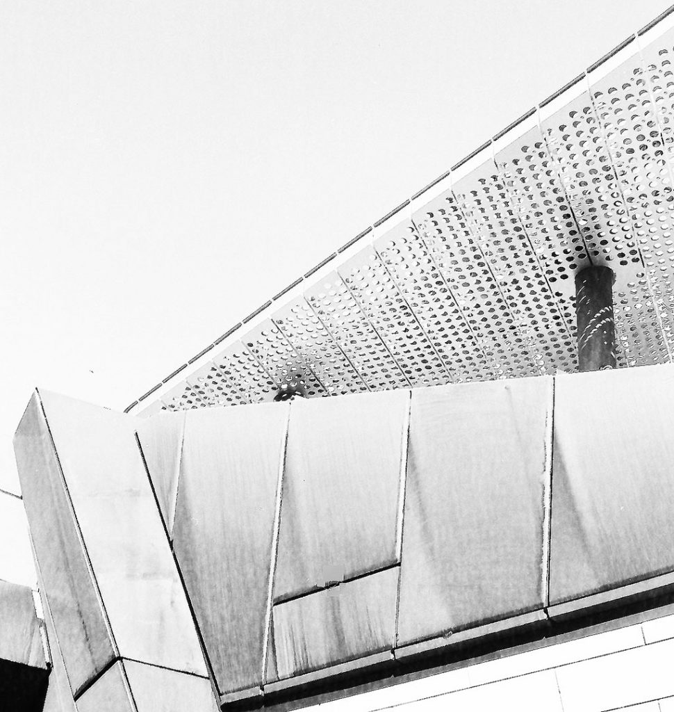 Monochrome architectural features in Yagan Square Perth
