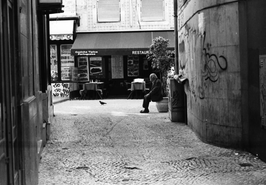Lisbon laneway - taking a rest